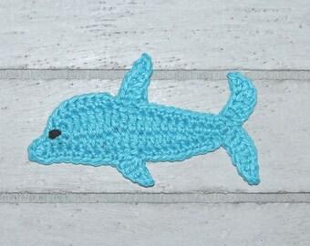 1 Dolphin - Application - CROCHET - fish