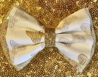 Minnie Gold and Silver Bow