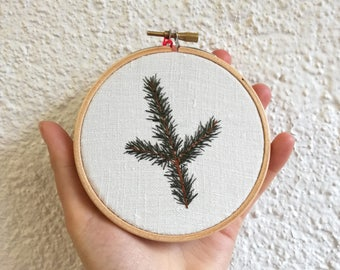 Embroidery plant - foliage - Hand Embroidery