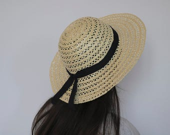 Portuguese handmade straw hat, portuguese straw, woman hat, summer hat, spring hat, gift for her.