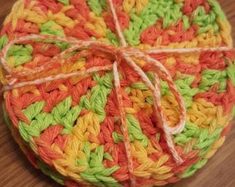Handmade crocheted coasters