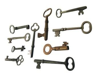 Skeleton Key Collection Antique Victorian Set 10