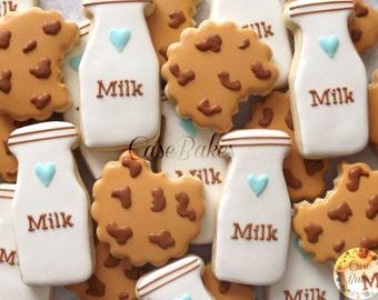 Milk and cookies - 1 dozen cookies