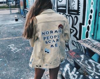 The Normal People Scare Me Denim Jacket