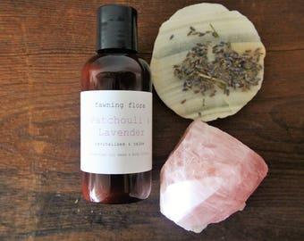 Lavender & Patchouli Body Lotion //4 oz, vegan, organic, essential oils•
