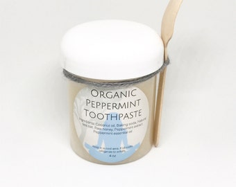 Organic Peppermint Toothpaste 4oz.