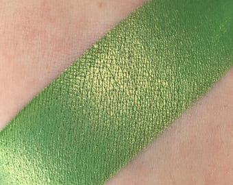 Emerald Kitty - Duochrome Green with Orange/Yellow Undertones 3g or 5g Jar Loose Mineral Eyeshadow Highly Pigmented Foiled Eye Shadow