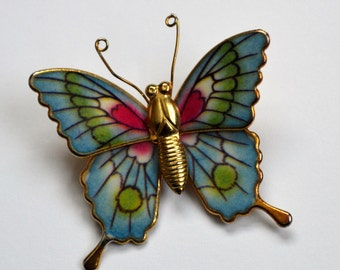 Vintage Butterfly Pin/ Vintage Butterfly Brooch