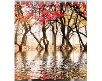 Autumn on the Lake Shower Curtain Bathroom Decor