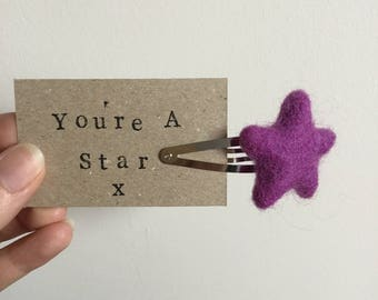 You're A Star Hair Clips, Rainbow colours