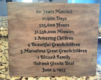 Anniversary Sign, Family Sign, Wooden Sign, Rustic