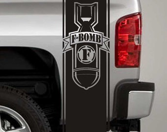 Truck Bed Stripe Decals - F-Bomb Stickers - Universal Fit (Pair x2)