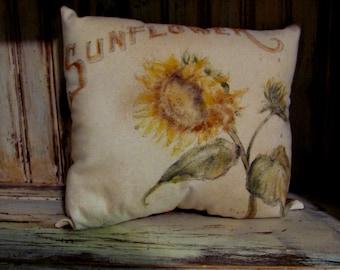 Cheery Sunflower Mini Pillow