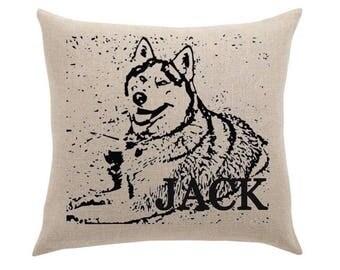 Throw Pillow - your pet's profile personaized pet cushion dog pillow cat pillow furbaby cushion cover
