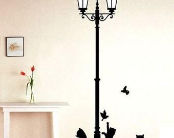 Cats & Birds Wall Mural Decal