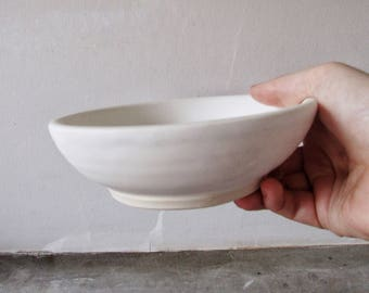 Stoneware Bowl in Textured Matte White - Handmade - Pottery - Dining - Home Decor