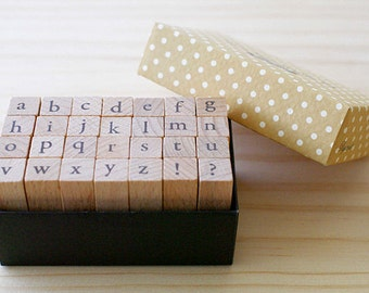 Clearance Sale - B TYPE - Mini Lowercase stamp Set