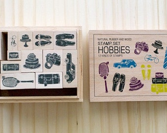 Clearance Sale - Wooden boxed - Hobbies Stamps