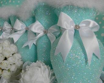 Wedding Centerpiece, Robin Egg Blue, Aqua Wedding De, Aqua Baby Shower Decor, Turquoise, Aqua Bridal Shower Decor, Aqua Quince, Tiffany Blue