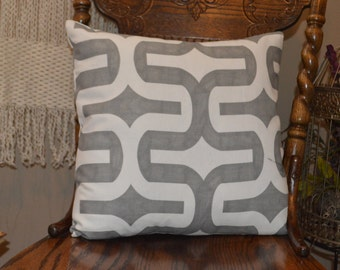 LOWER PRICES! Grey and White Contemporary Pillow Cover