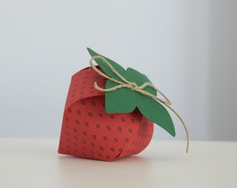 Colored cardboard box Strawberry