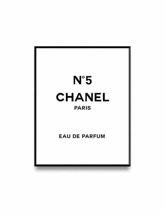 Chanel Print Fashion Art Chanel Logo Chanel Logo Print