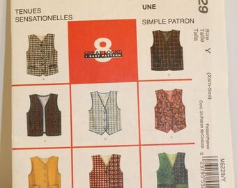McCalls M6229 Child's vest pattern