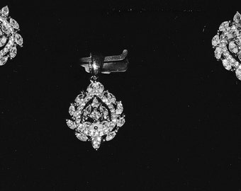 Diamond Earrings and Pendant