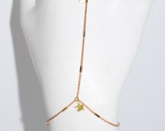 Stella Gold Hand Chain