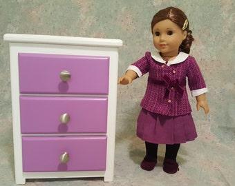 American Girl Doll 3 Drawer Dresser