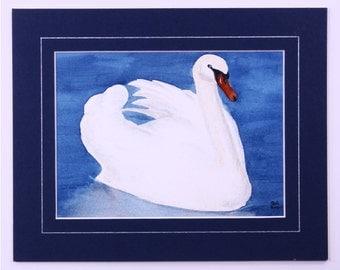 Swan Watercolour Painting