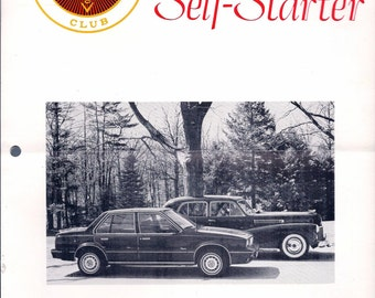 Cadillac La Salle Club THE SELF-STARTER August 1982