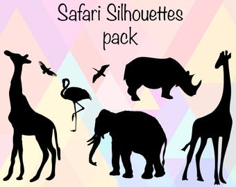 Safari SVG | Safari Silhouette | Safari Animal svg | Safari Stencil | Safari Decal | Safari Cut File | Giraffe svg | Safari Cricut file