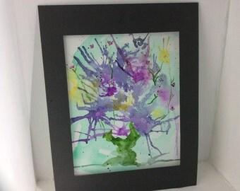 original watercolor art, Flowering Tree, free Shipping in USA
