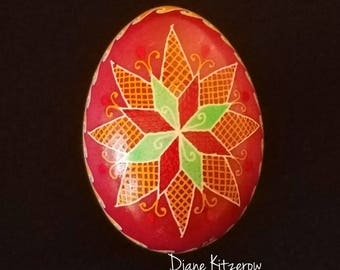 Ukrainian decorative egg art, duck pysanka, thoughtful gift ideas, unique home decor, home furnishings pysanky farewell gift idea Easter egg