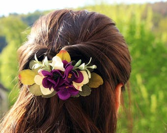 Beautiful floral hair comb, wedding hair accessory, brat haarschmuck, Bridal Hair Comb