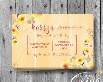 Birthday Invitation, Custom Invitation, Name Invitation,