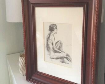 Restoration Hardware Portrait Frame With Sketch