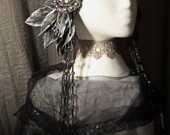 """Tribal headdress """"Raven's Wing"""""""