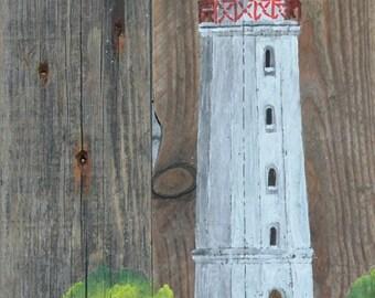 Acrylic painting, Lighthouse, Dornbusch