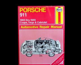 Vintage Haynes Porsche 911 1965 Thru 1989 Coupe Targa Cabriolet Repair Manual 264