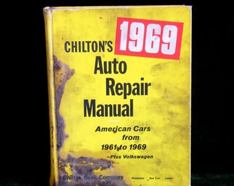 Vintage Chilton's 1969 American Cars From 1961 To 1969 Plus Volkswagen Auto Repair Manual 5425