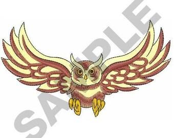 Owl In Flight - Machine Embroidery Design