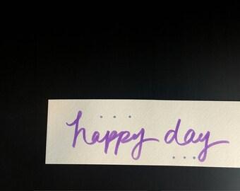 Happy Day Watercolor Card