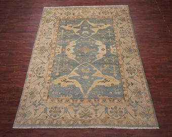 Traditional 10X14 Oushak Hand-Knotted Vegetable Dye Wool Area Rug Oriental Carpet (10.1 x 13.10)