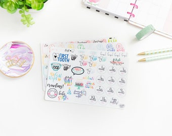 Pregnancy and Baby Tracking Stickers - Happy Planner