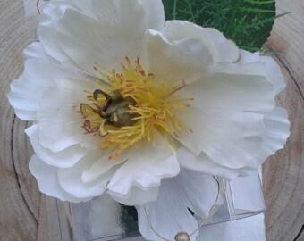 Beautiful artificial garden rose wrist corsage