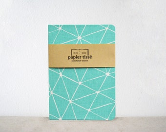 Green triangular pattern notebook