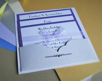Pocket Wedding Invitation Cailey - SAMPLE