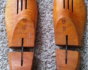 Antique 1930s Era Wooden Shoe Molds